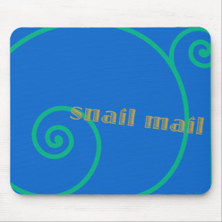 Blueberry Snail Mail Mouse Pad