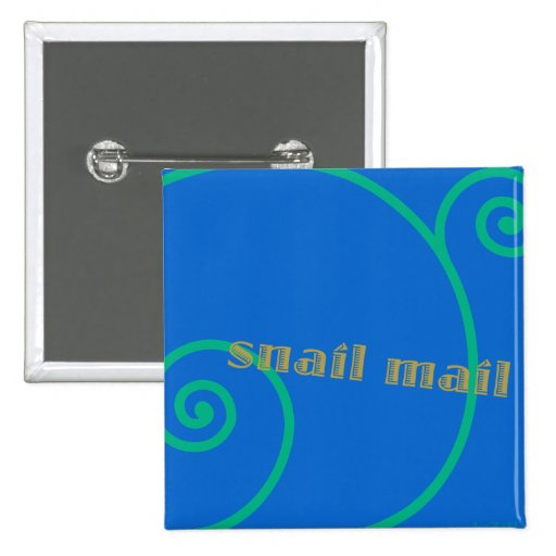 Blueberry Snail Mail Pinback Buttons
