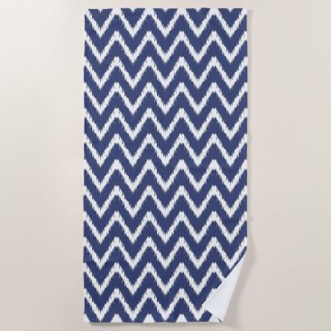 Beach Themed Blueberry Southern Cottage Chevrons Beach Towel