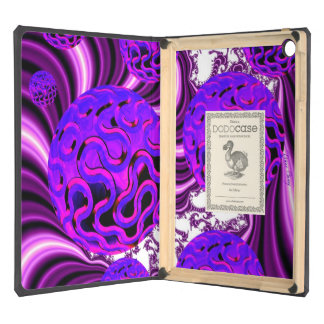 Blueberry Splash, Abstract Fractal Purple Fruit Cover For iPad Air
