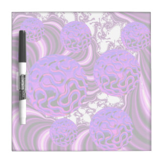Blueberry Splash, Abstract Fractal Purple Fruit Dry Erase Whiteboards