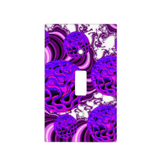 Blueberry Splash, Abstract Fractal Purple Fruit Switch Plate Cover