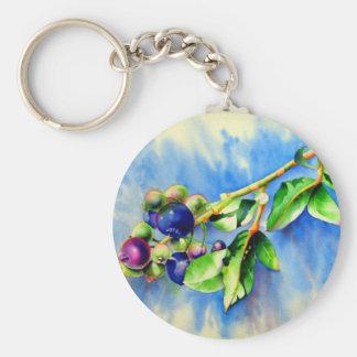 Blueberry Sprig Keychain