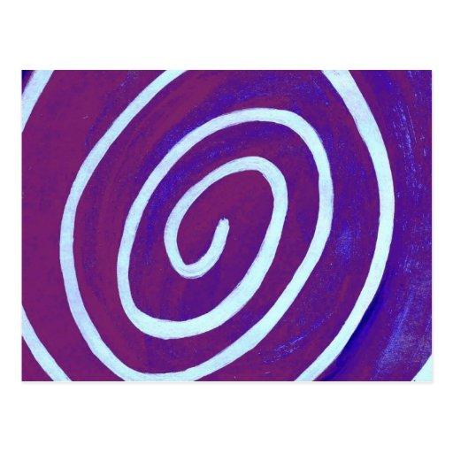 Blueberry Swirl Postcard