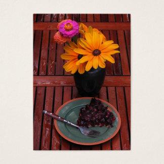 Blueberry Tart & Flowers ATC Business Card