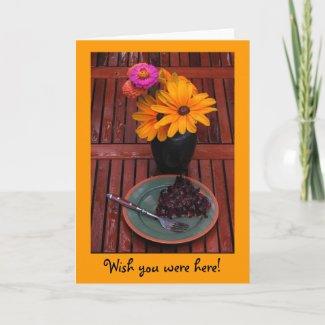 Blueberry Tart & Flowers card