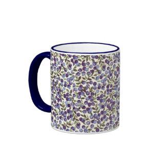 Blueberry Teacup Ringer Mug