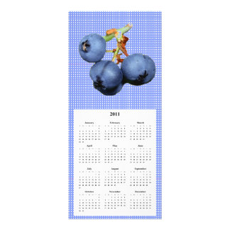 Blueberry Telephone and Calender card Rack Card Template