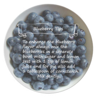 Blueberry Tips Plate