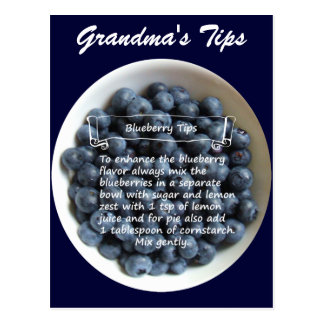 Blueberry Tips Postcard