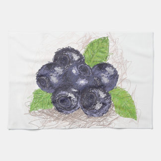 blueberry towel