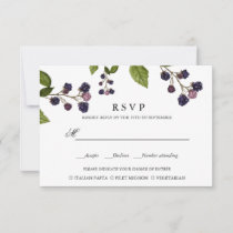 BlueBerry | WEDDING RSVP MEAL CHOICE
