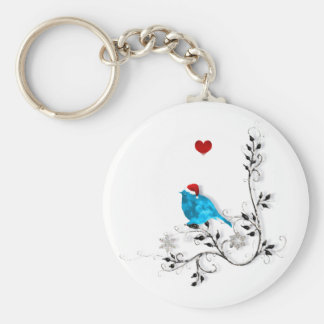 Bluebird and Heart! Key Chains