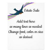 Bluebird and Rainbow, Customizable Text Flyer