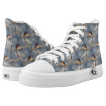Bluebird Animal Nature Pattern High-Top Sneakers