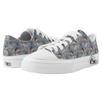 Bluebird Animal Nature Pattern Low-Top Sneakers