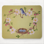 Bluebird & Apple Blossoms Mousepad
