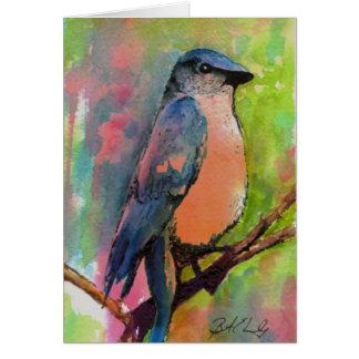 """Bluebird at Sunset"" Painting Card"