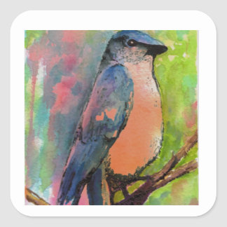 """""""Bluebird at Sunset"""" Painting Stickers"""