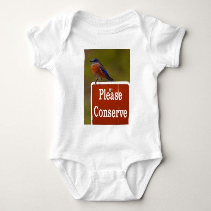 bluebird baby bodysuit