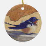Bluebird, Barn Swallow Christmas Ornament
