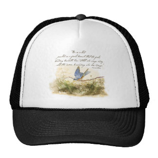 Bluebird Bird on Branch Victor Hugo Poem Trucker Hat
