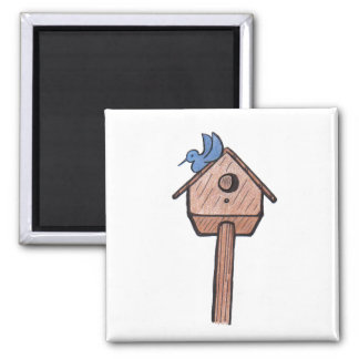 Bluebird Birdhouse...Magnet...