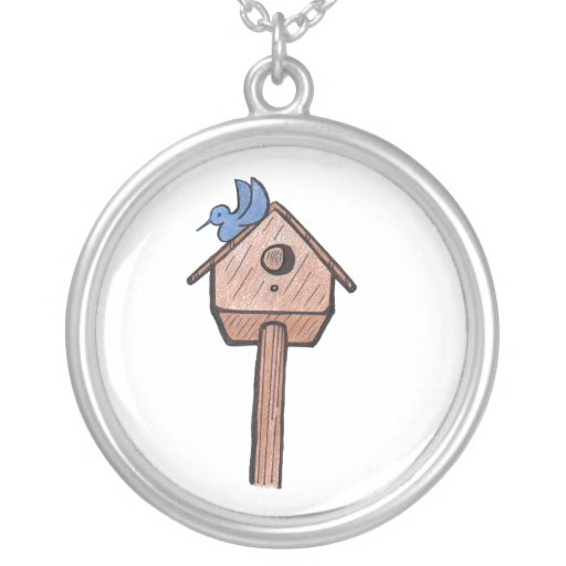 Bluebird Birdhouse...Necklace...