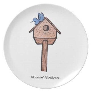 Bluebird Birdhouse... Plate