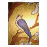 Bluebird blank greeting card