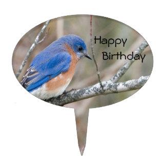 Bluebird Blue Bird in Tree Cake Topper