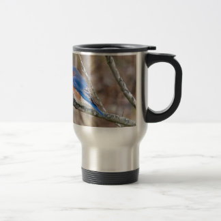 Bluebird Blue Bird in Tree Travel Mug