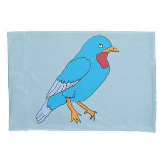 Bluebird Cartoon Pillow Cases