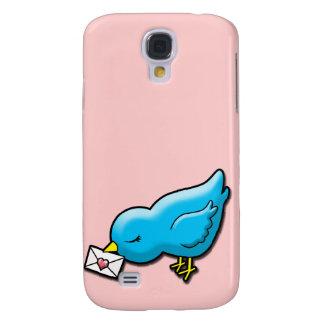 Bluebird con la letra de amor funda para galaxy s4