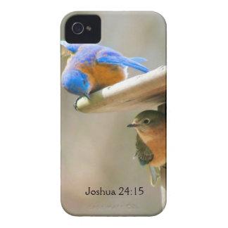 Bluebird Couple with Bible Verse iPhone 4 Case-Mate Case