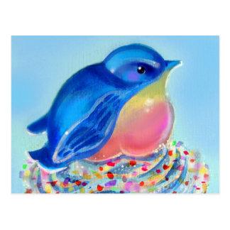 Bluebird Cupcake Surprise Postcard