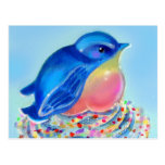 Bluebird Cupcake Surprise Postcards