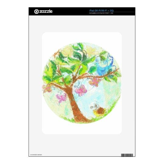 bluebird de la alegría calcomanías para iPad