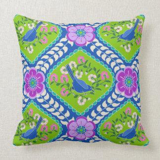 Bluebird de la almohada bohemia brillante de la cojín decorativo