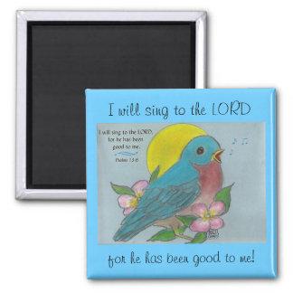 """""""Bluebird de la felicidad"""" con el imán del 13:6 de"""