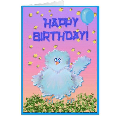 Bluebird de la felicidad felicitacion