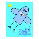 Bluebird de la felicidad postales