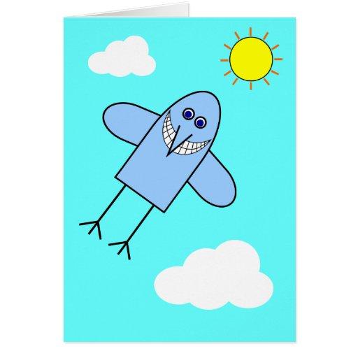 Bluebird de la felicidad tarjeta de felicitación