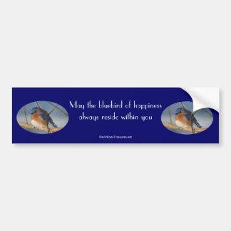Bluebird de la pegatina para el parachoques inspir etiqueta de parachoque