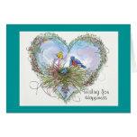 Bluebird de la tarjeta de la felicidad - modificad