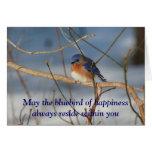 Bluebird de la tarjeta inspirada de la felicidad