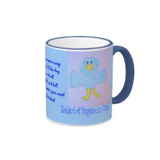 Bluebird de la taza de la felicidad