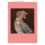 bluebird del bebé con la tarjeta de la cebolla sal