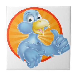 Bluebird del dibujo animado azulejo cuadrado pequeño