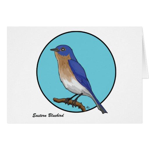 BLUEBIRD DEL ESTE TARJETA DE FELICITACIÓN